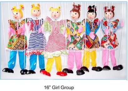 118-GC - Girl Clown Marionette