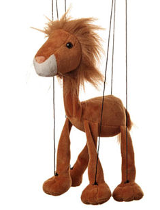 WB359 - Lion plush marionette by Sunny