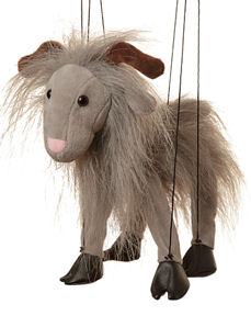 WB391B - Grey Goat Marionette (String Puppet)