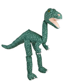 WB967F - 38 Large Light Green T-Rex Dinosaur Marionette Puppet