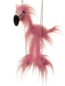 WB312 - Baby Pink Flamingo Marionette by Sunny