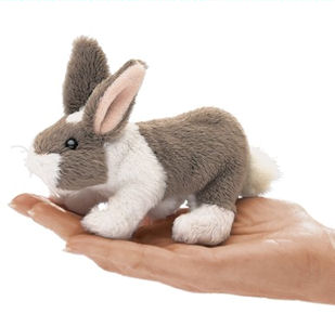 2727 - Mini Dutch Rabbit Finger Puppet