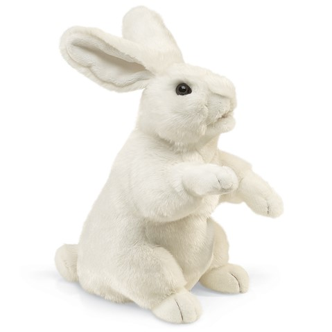2868 - Standing White Bunny Puppet