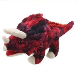 PC002907 - Baby Triceratops Puppet (Red)