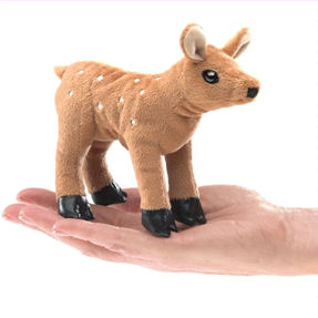 2760 - Mini Fawn Finger Puppet