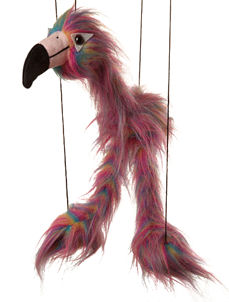 WB320 - Baby Rainbow Flamingo Marionette by Sunny