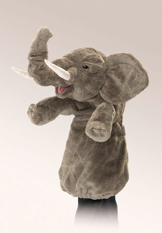 2830 - Folkmanis ELEPHANT STAGE PUPPET