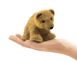 2739 - Folkmanis Mini Grizzly Bear Finger Puppet