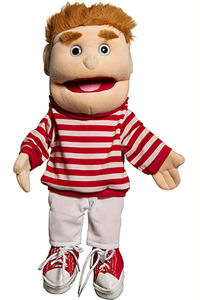 GL2101 - Boy in Red Stripes puppet