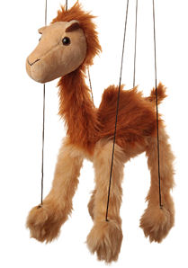 WB331 - Baby Camel Plush Marionette