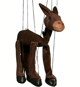 WB390 - Donkey plush Marionette by Sunny