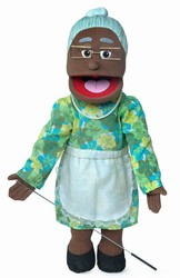 Sp2201B - 28 Silly Grandma Puppet (African)