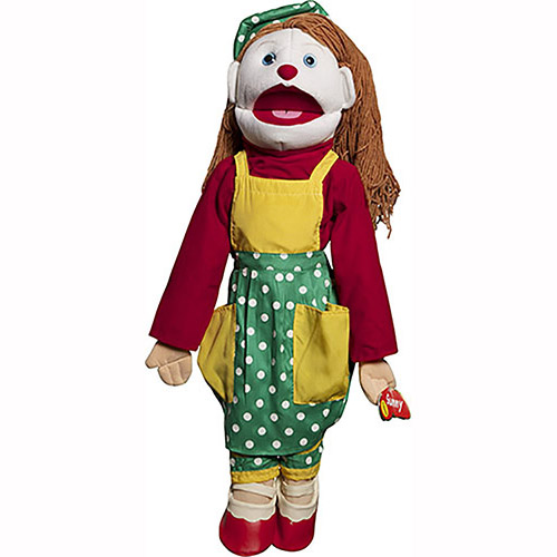GS4906 - 28 Girl Clown Puppet with Rod Arm