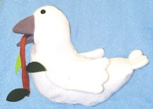 381 - Dove Puppet with Olive Branch