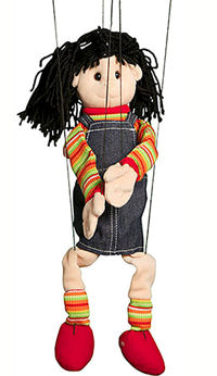 WB1572 - Hispanic Girl Marionette