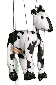 WB330 - Sunny Plush Cow Marionette