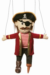 SM3902 - Silly Peg Leg Pirate Marionette Puppet