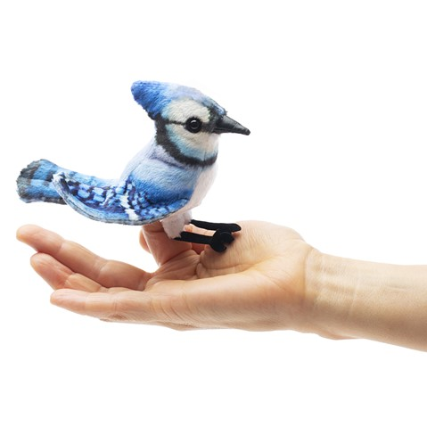 2785 - Folkmanis Mini Blue Jay Finger Puppet #2785