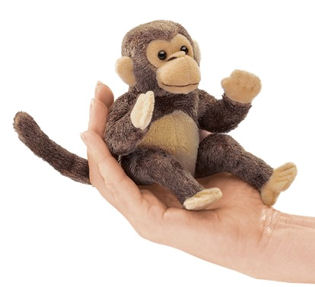 2738 - Folkmanis Mini Monkey Finger Puppet