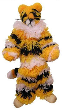 126 - yellow Tiger Marionette
