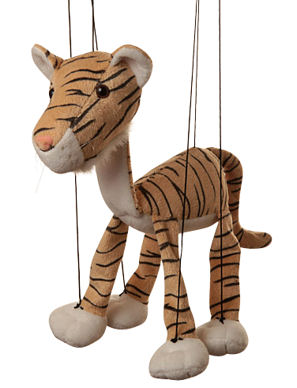 WB358 - Baby Tiger plush Marionette