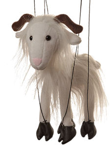 WB391A - White Goat Marionette (String Puppet)
